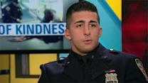 NYPD officer talks about gift to homeless man