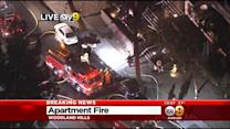 Apartment Complex In Flames In Woodland Hills