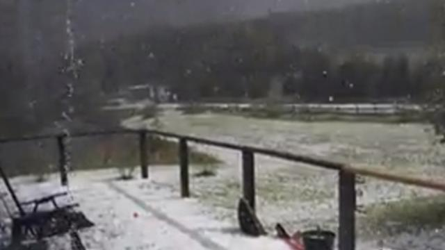 Hail Storm Hits Delaware County, New York