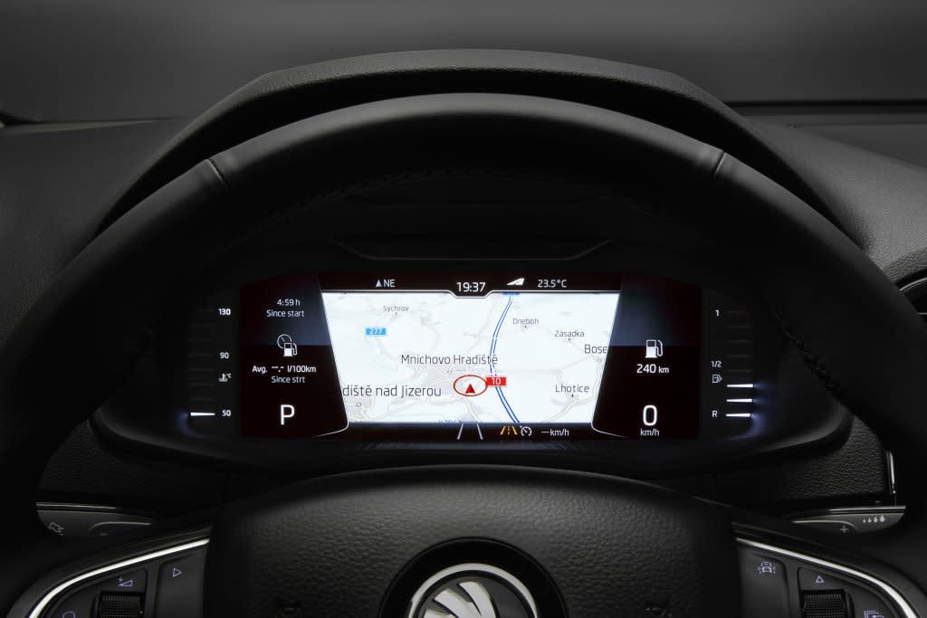 享受不同的駕馭感, SKODA在歐洲推出虛擬儀表選配