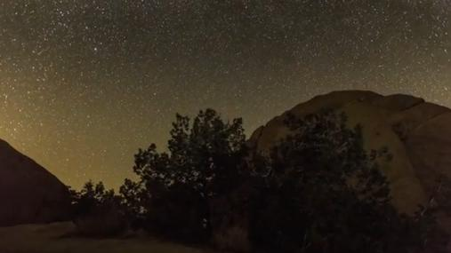 Time lapse footage of Perseid meteor shower