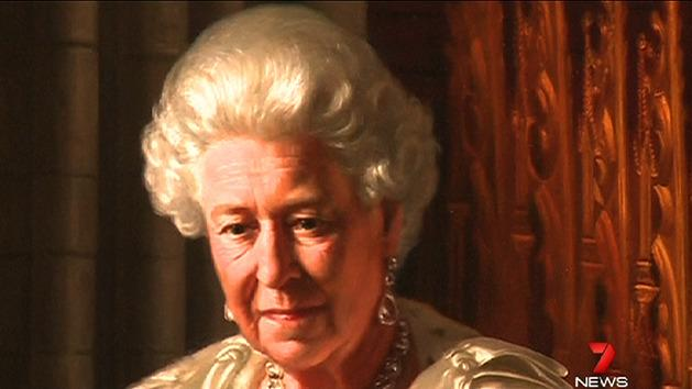 Queen's Jubilee painting defaced