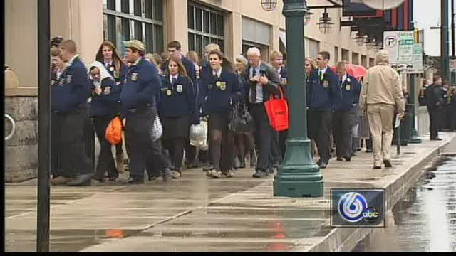 FFA Members Brave Cold, Rain For Opening Ceremonies