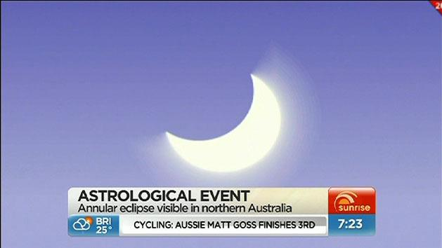 Solar eclipse viewed from Australia