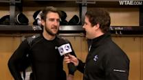 Penguins' Tanner Glass talks about game-opening fight with Arron Asham