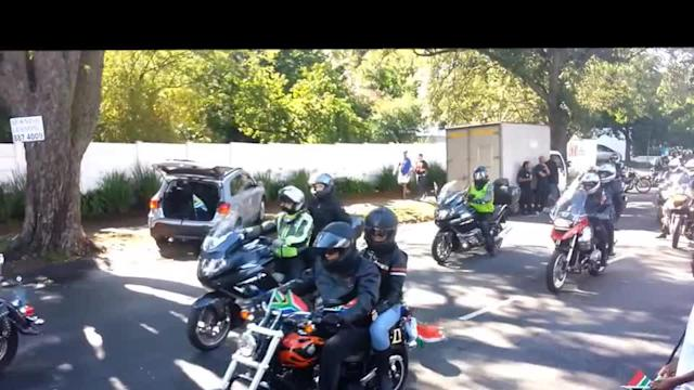 Bikers ride out in tribute to Mandela