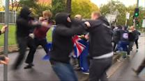 Clashes between protesters in Australia