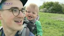 McBusted's Tom Fletcher's super cute son Buzz laughs hysterically at his Dad blowing dandelions!