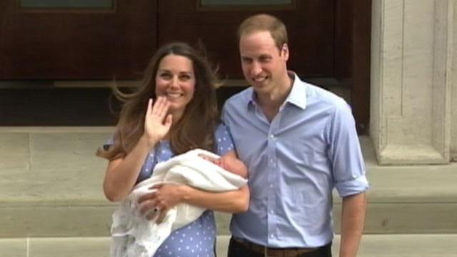 William and Kate's Baby Makes 1st Public Appearance