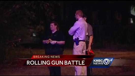 Man wounded in rolling gun battle on city's east side