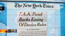 Headlines: FAA panel says gadgets OK for take-off and landing
