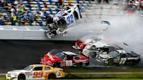 Final Laps: Stewart holds to win after big crash at finish