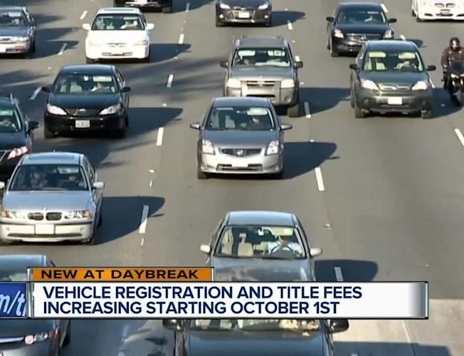 Vehicle registration and title fees increasing Oct  1 [Video]