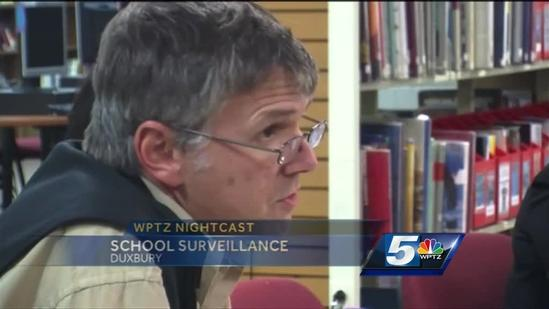 Should surveillance cameras run during the school day?
