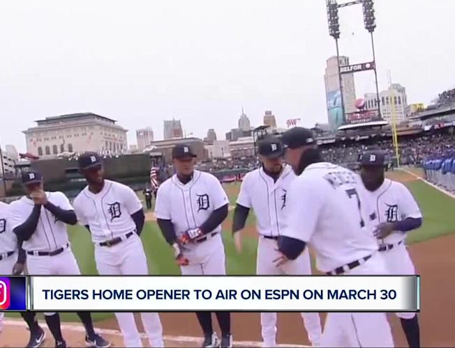 Tigers Home Opener 2020.Tigers 2020 Home Opener To Air On Espn