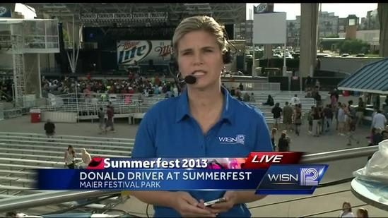 Donald Driver makes the rounds at Summerfest