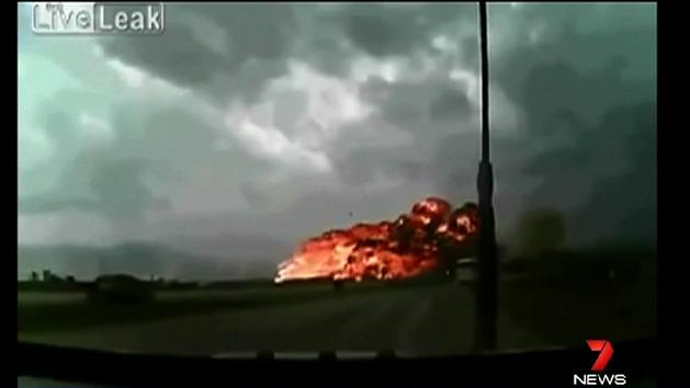 Deadly plane crash caught on camera