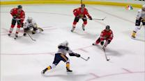 Ribeiro smacks home a one-timer from the slot