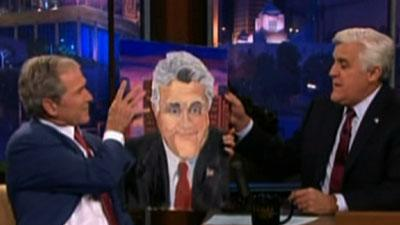George W. Bush Jokes Around With Jay Leno