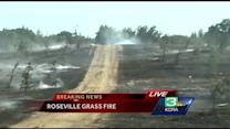250+ evacuated as grass fire torches 30 acres in Roseville