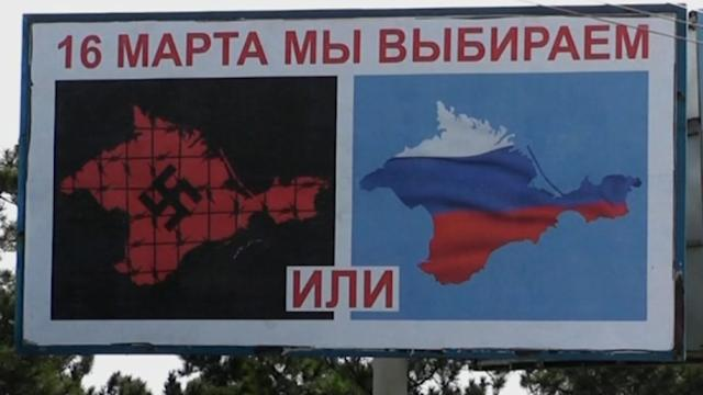 Billboards go up in Crimean capital to advertise independence referendum