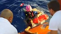 Raw: Dramatic Moments After Italian Shipwreck