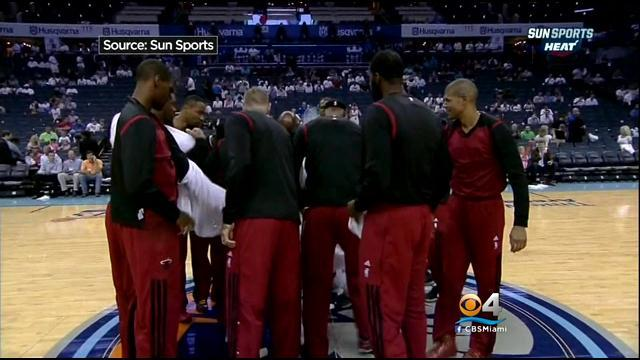 Miami Heat Players Show Sign Of Solidarity With Clippers In Monday's Game