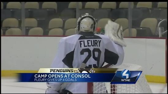 Penguins take ice for first training camp practice