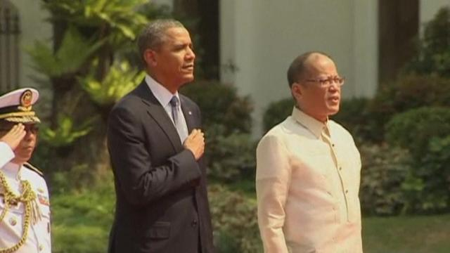 Obama arrives in Philippines