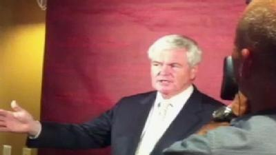 Newt Gingrich Campaigns At Harvard