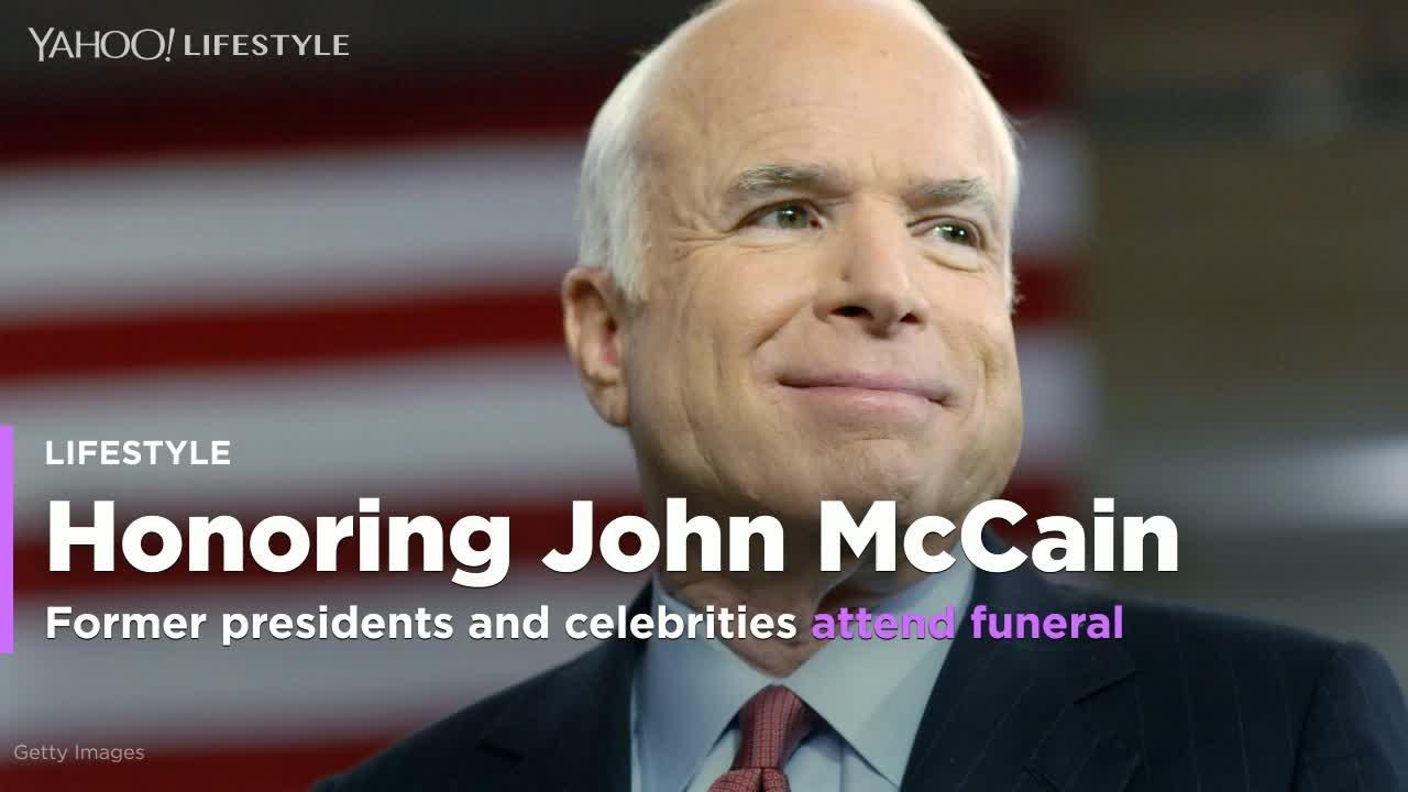 Former Presidents Celebrities At John Mccain Funeral