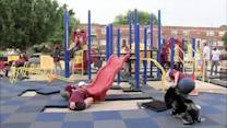 Volunteers build playground in just one day