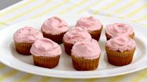 Lemon Yogurt Cupcakes with Fresh Raspberry Frosting