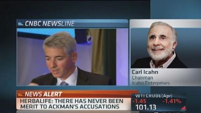 Icahn: Ackman's Herbalife attack borders on insane