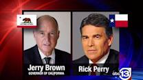 Battle states: Perry tries to lure CA companies to TX