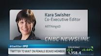 Twitter holds off on female board member
