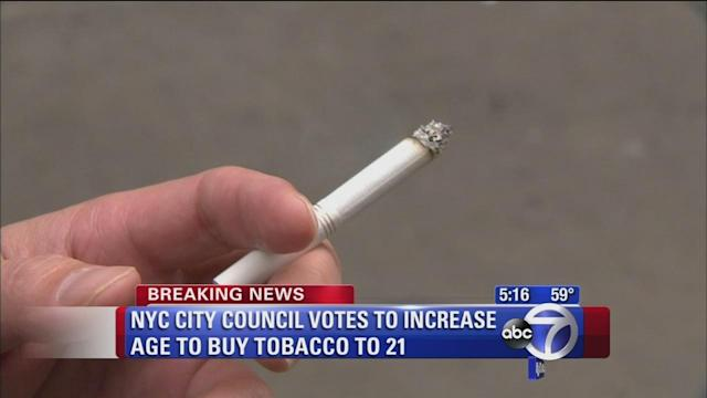 City council votes to increase age for tobacco