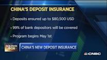 China to offer deposit insurance