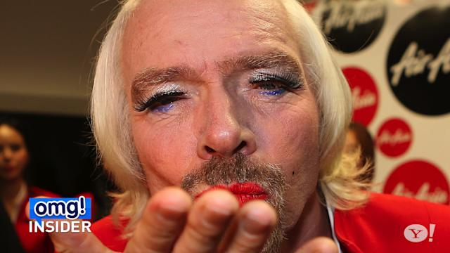 Richard Branson Loses a Bet, Dresses Like a Lady