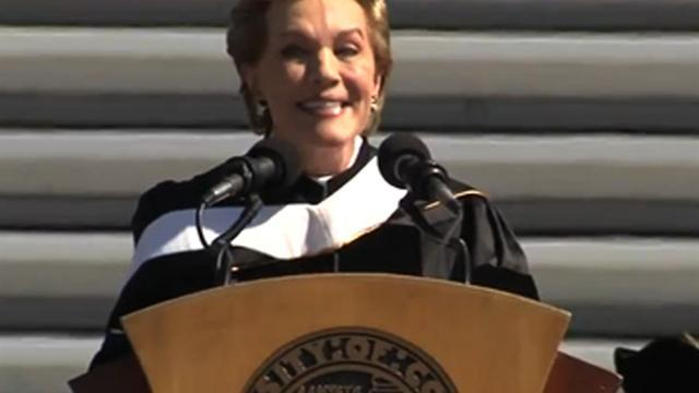 Julie Andrews to 2013 grads: Go out and kick butt