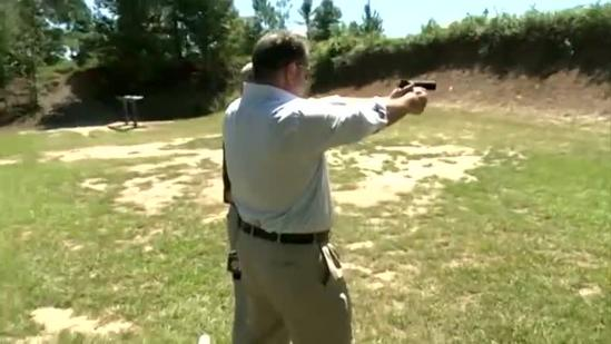 16 WAPT's Scott Simmons fires off some rounds