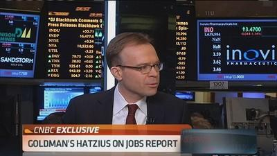 Hatzius: Expect Fed to adjust forward guidance