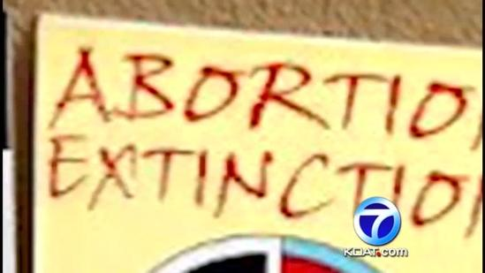 Students upset over abortion posters