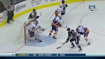 Cam Atkinson chips puck top-shelf