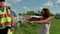 Woman Loses Cool With Troopers After Crash
