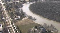 Raw: N.D. River Floods, but Forecast Improves