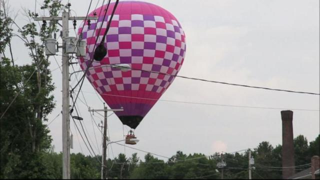 Massachusetts Hot Air Balloon Fire Caught on Tape
