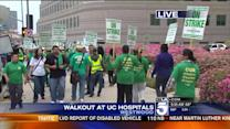 Thousands of UC Hospital Workers Stage Walkout