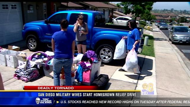 San Diego military wives start homegrown relief drive