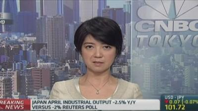 This is weighing on Japan's industrial output